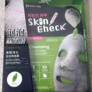 羅志祥代言!Skin Check 茶樹淨化泡泡黑面膜
