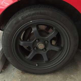 "Toyota Vios Black 15""  Sports Rim"