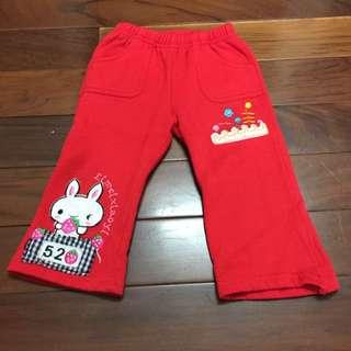 二手兒童鋪棉/刷毛褲(褲長43cm)