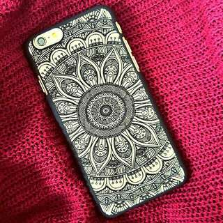 [Instocks CNY Promotion] Black/White Mandala #2 iPhone 6 6S 6Plus 6S Plus Hard Transparent Clear Case Cover