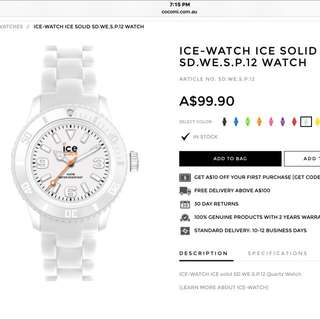 Brand-Ice Watch Colour- White