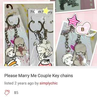 Love YOU Couple Keychains