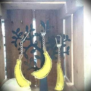 不織布香蕉鑰匙圈