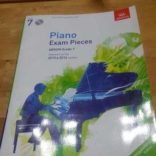 Piano Exam Pieces ABRSM Grade 7 + CD
