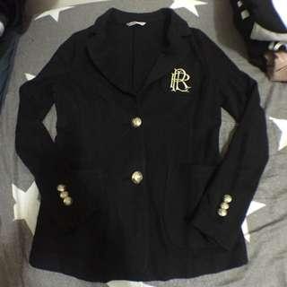 學院風好質感顯瘦黑色合身外套
