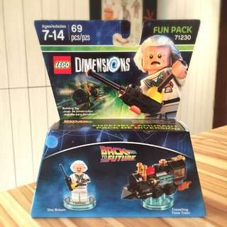 Lego Dimension 71230 Back To The Future BTTF Doc Brown Time Traveling Train