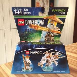 Lego Dimensions 71234 Ninja go Sensei Wu Flying White Dragon