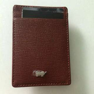 Maroon Red Card Holder And Money Clip