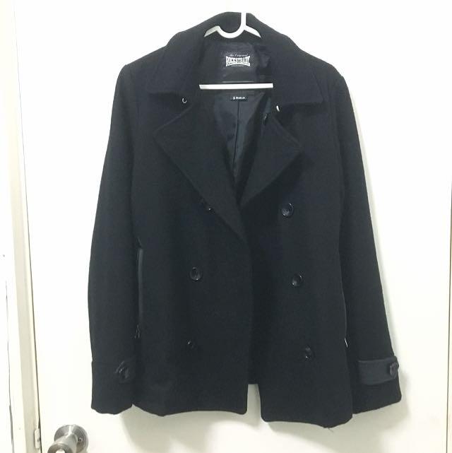 雙排扣短大衣風衣外套