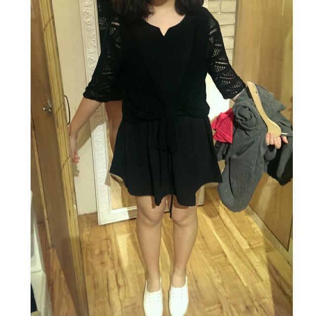 黑色圖騰網狀小外套