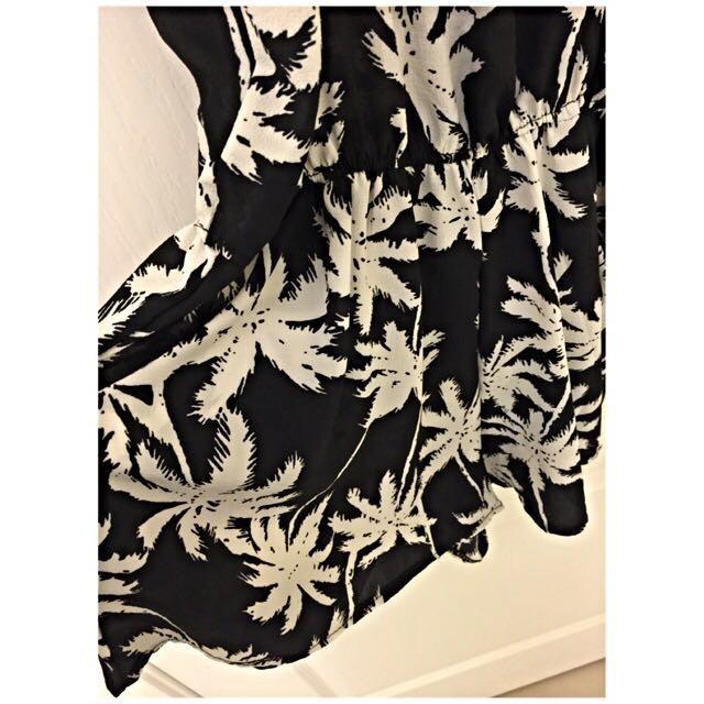 背心連身短褲裙-黑白色