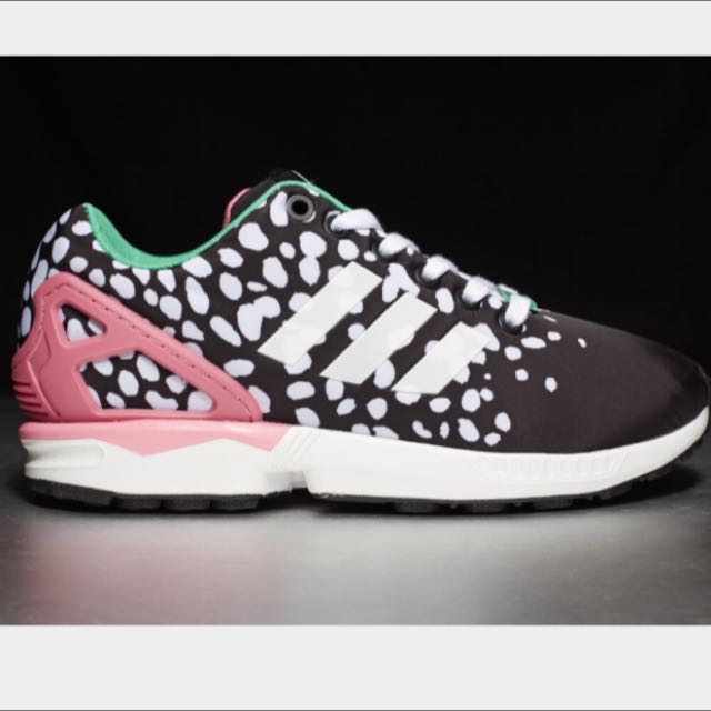 dff238a11 Adidas Originals ZX Flux W Black White Pink Women s Sneakers Running ...