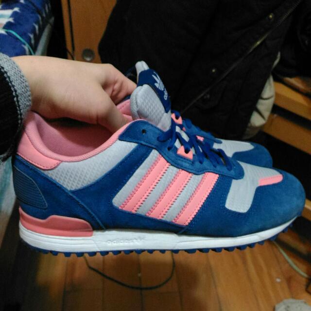 降價!! Adidas zx700 藍粉紅 23.5