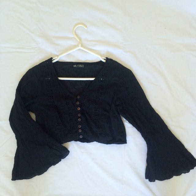 Black Belle Sleeve Ishka Top