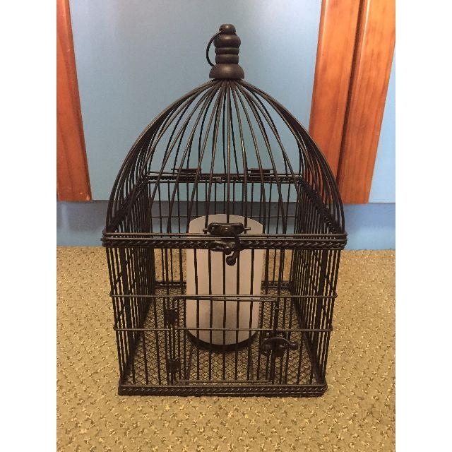 Black birdcage Candle holder