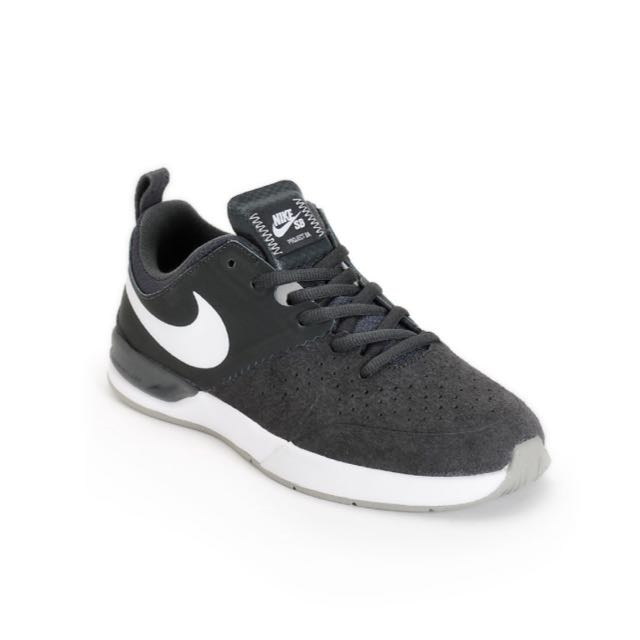 0166217e514e BN Nike SB Project BA Anthracite   White Skate Shoes