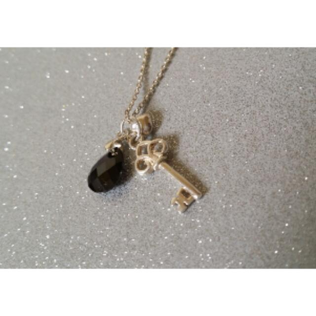Sterling Silver Heartkey Necklace