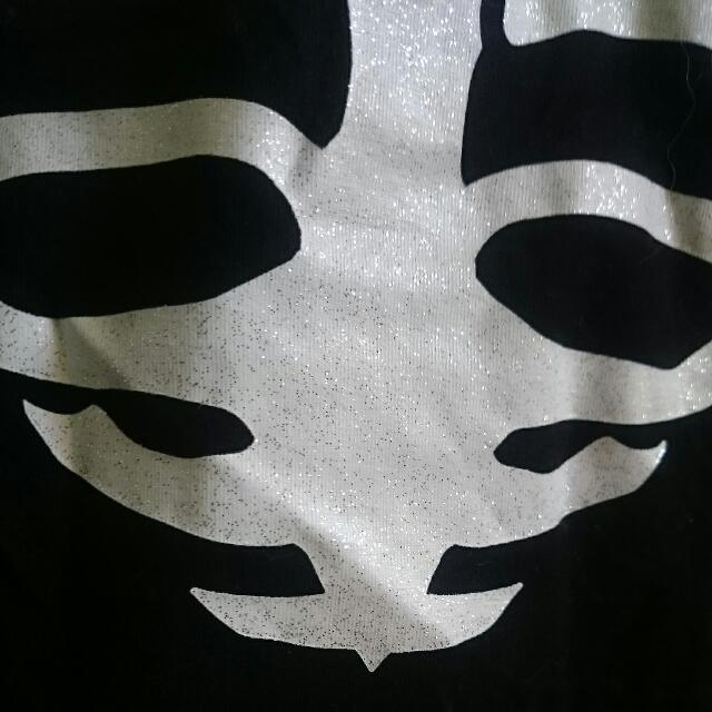 H&M Black Cropped Skeleton Top