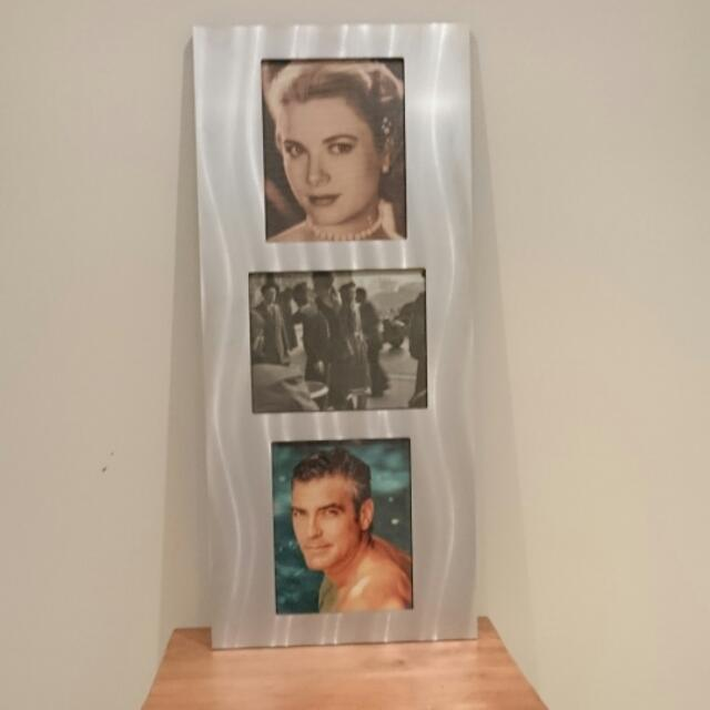 Industrial Style Machined Metal Photo Frame