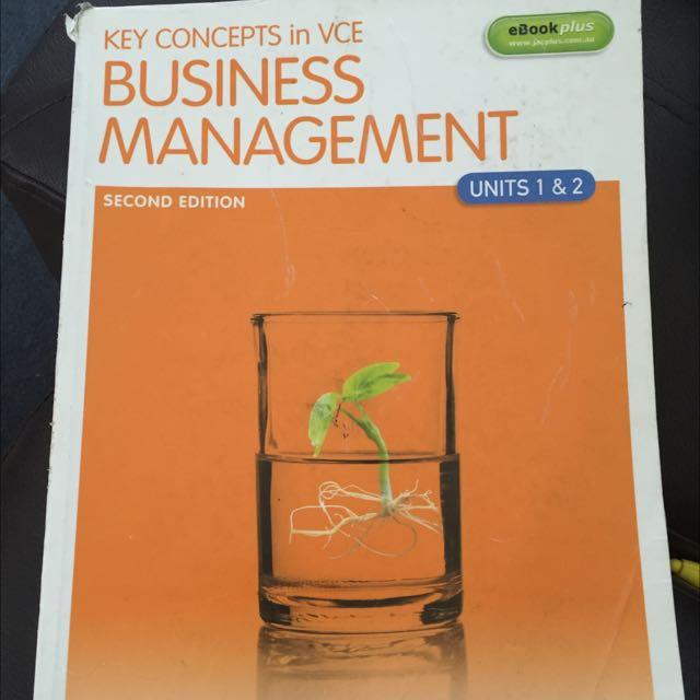Key Concepts Business Management Unit 1&2