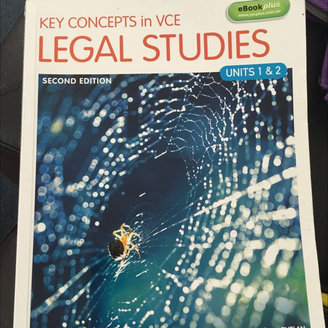 Key Concepts Legal Studies Unit 1&2