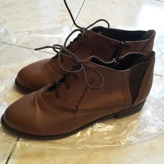 Mox In Korea 咖啡焦糖色短踝靴 24/38