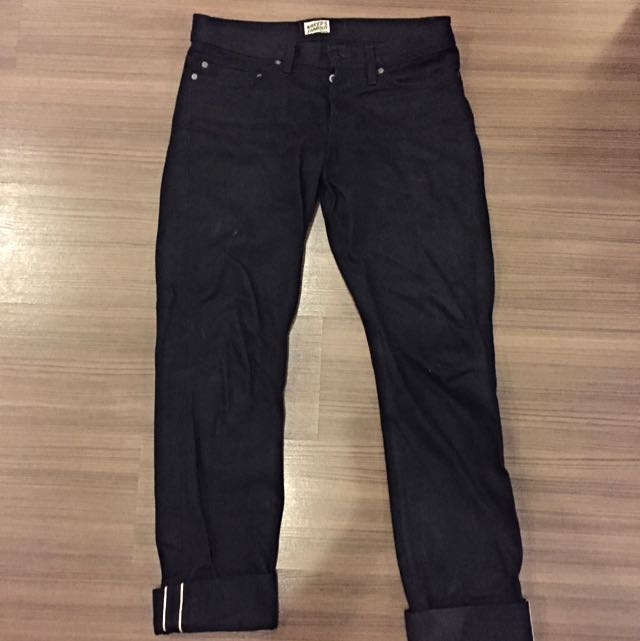 Naked & Famous Black Jeans (WeirdGuy Solid Black Selvedge)