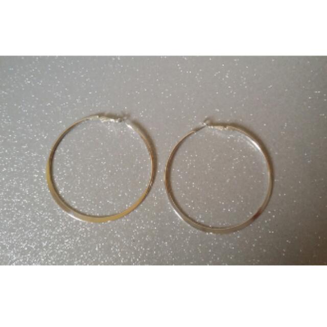 Sterling Silver Hoop Earings