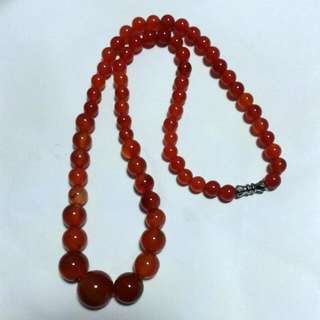 (Offer Items $20)Read Agate Chain 红色瑪瑙项璉
