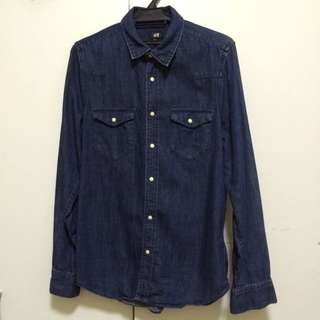 H&M Denim Shirt, used once because too small.