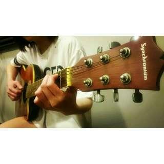 Synchronium Semi-Acoustic Guitar