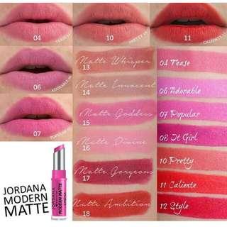 Jordana Modern Matte Lipstick