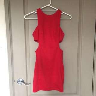 ASOS Red Cutout Dress