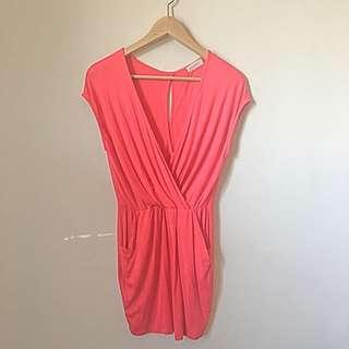 SOLEMIO Pink Pocket Dress S