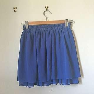 Navy Chiffon Skirt AU6-8