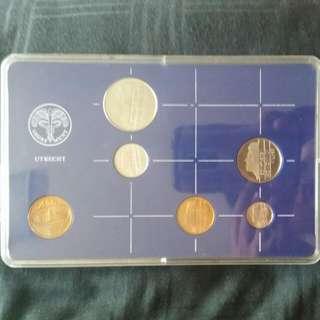 1986 Netherlands Coin Set