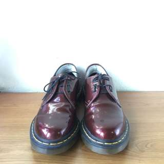 Dr Martens 1461 Patent Cherry Red Low Cut Boots