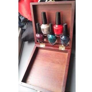 🚚 全新 精美木盒 化妝盒 飾品盒