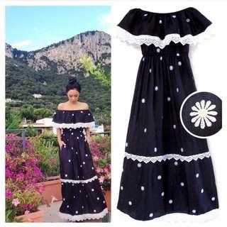 Boho Daisy Maxi Dress