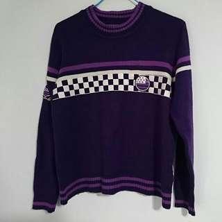 🚚 紫色 針織毛衣