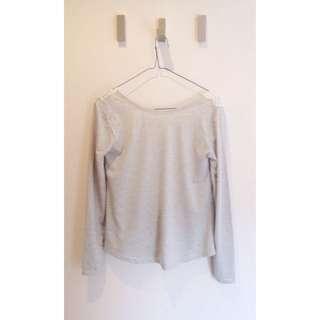 Backless  grey shirt