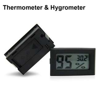 [Instocks] Black Mini Digital LCD Indoor Temperature Humidity Meter Thermometer Hygrometer Tester Portable Small