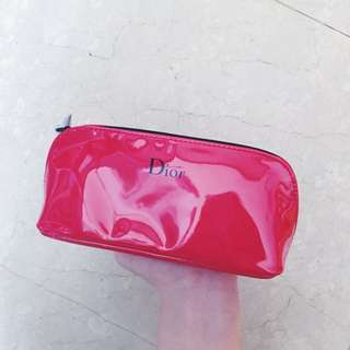 Dior 紅色 化妝包