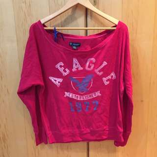 American Eagle桃紅針織衫L號