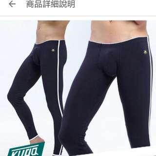 全新⭐男素色棉衛生褲L號深藍