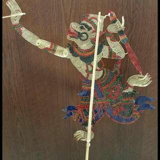 Traditional Hanuman Thai Shadow Puppet Nang Talung