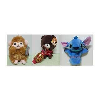 猴子/大猩猩 TOM Bear湯姆熊 史迪奇手偶 玩偶 禮物 全身立體造型娃娃絨毛玩偶