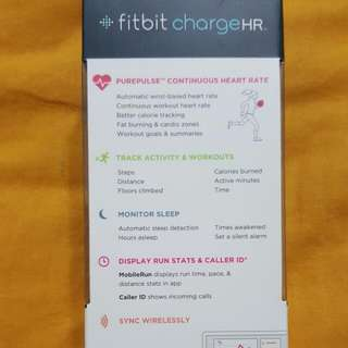 Fitbit Charge HR. Brand New, Sealed In Box. Selling Chrap.. Retail Is More Than 200