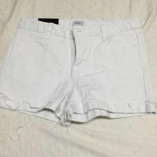 全新高腰白色短褲
