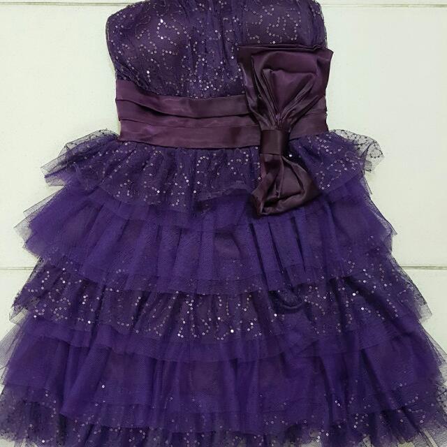 紫色小禮服